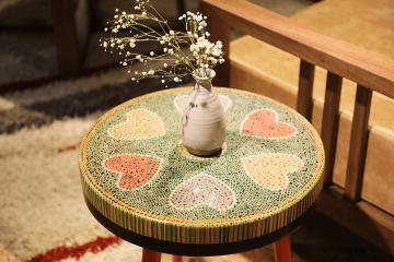 Heart III Colored-pencil Coffee Table