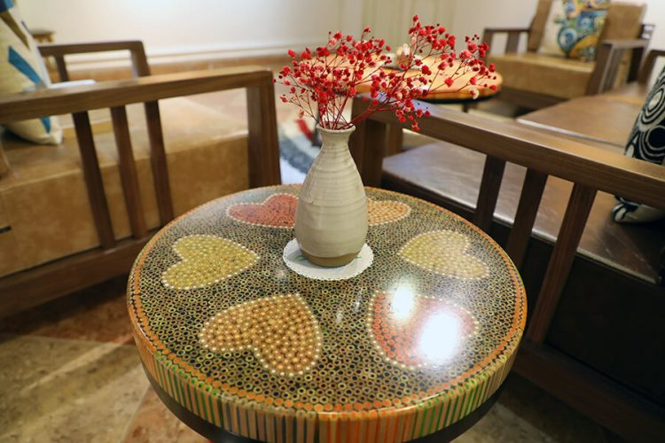Heart III Colored-pencil Coffee Table 5