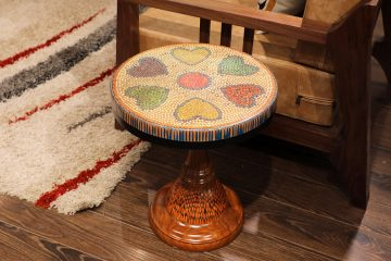 Heart IV Colored-pencil Coffee Table