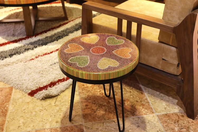 Heart IV Colored-pencil Coffee Tables 1