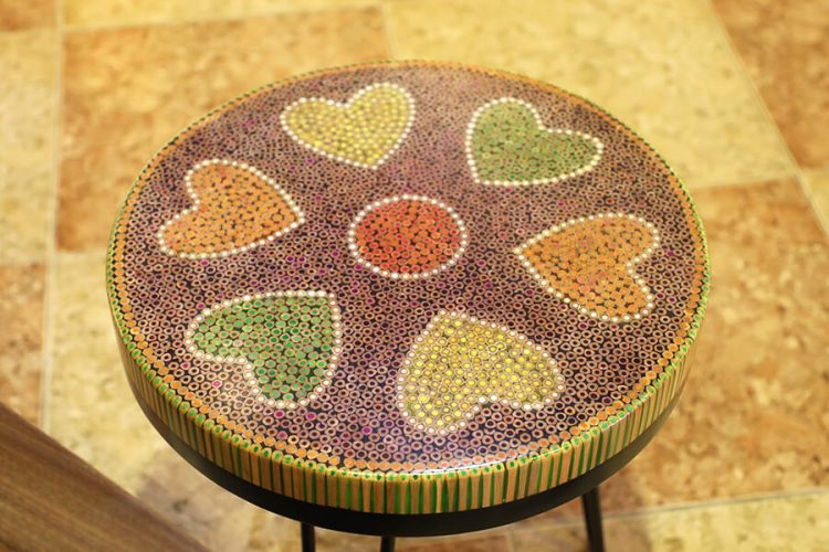 Heart IV Colored-pencil Coffee Tables 3