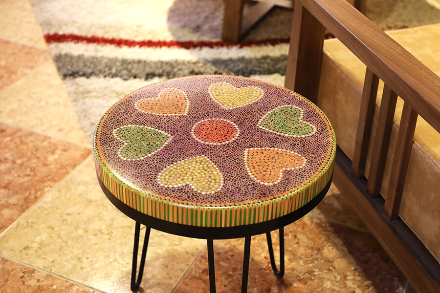 Heart IV Colored-pencil Coffee Tables