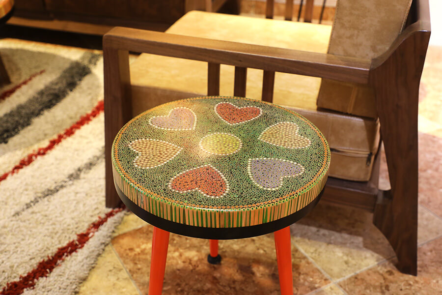 Heart V Colored-pencil Coffee Tables 1