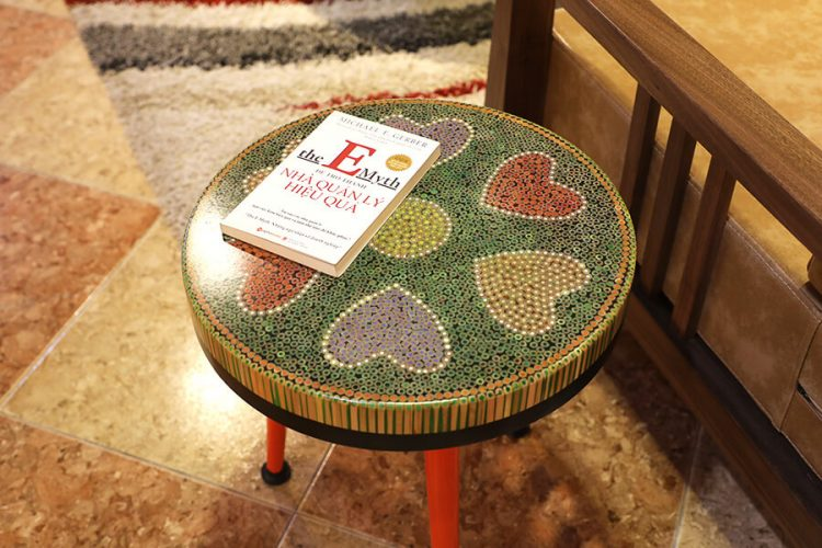 Heart V Colored-pencil Coffee Tables 2