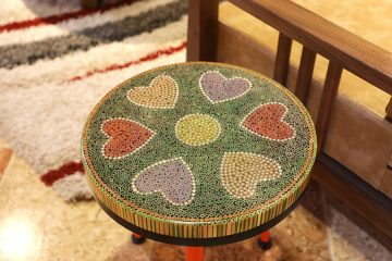 Heart V Colored-pencil Coffee Tables