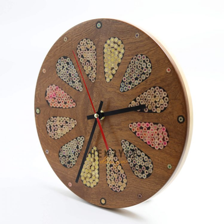 Home Accent Colored-Pencil Wall Clock