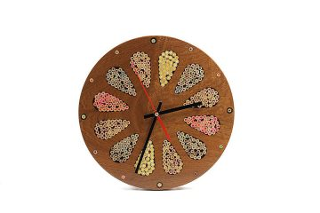 Home Accents Colored-Pencil Wood Wall Clock
