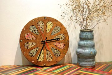Home Accents Colored-Pencil Wood Wall Clock 2