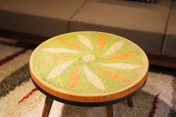 Honeysuckle Colored-pencil Coffee Table 3