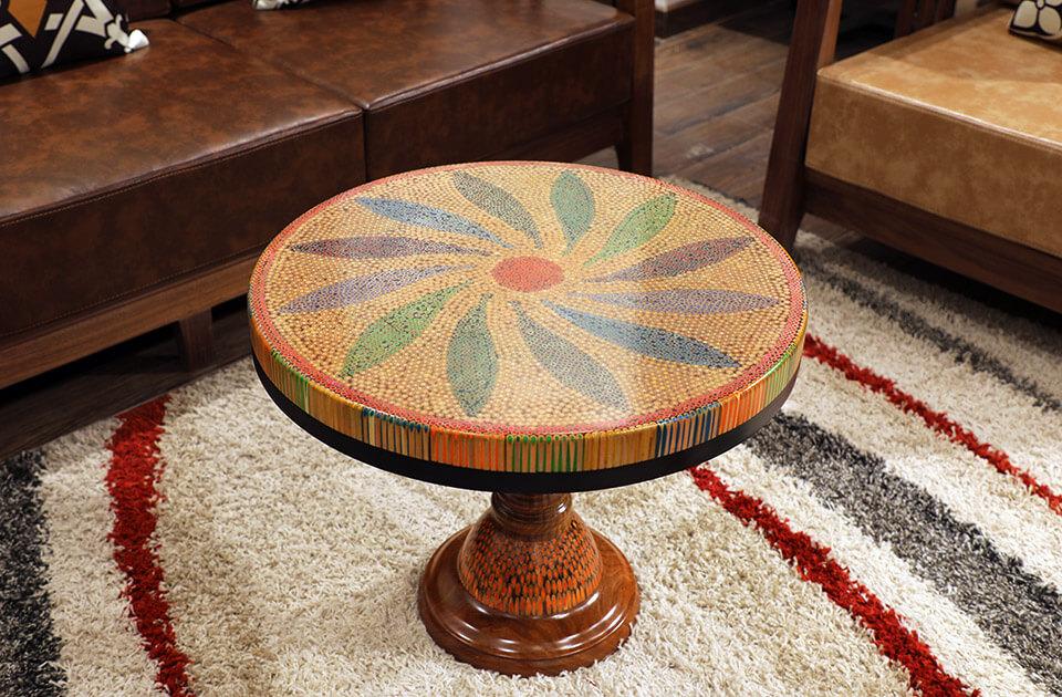 Honeysuckle Colored-pencil Coffee Table II