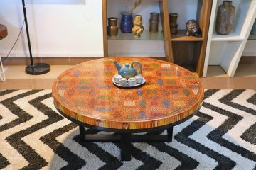Lucky Coins Colored Pencil Coffee Table IV 1
