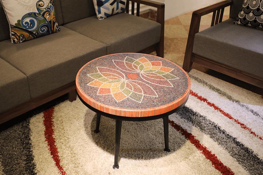 Lotus Colored-pencils Coffee Table