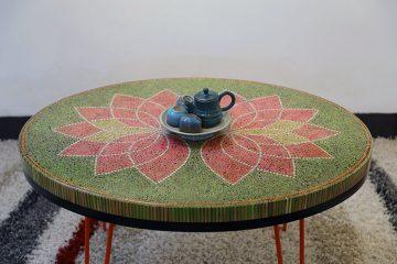 Lotus II Colored-pencil Coffee Table