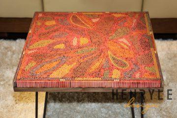 Lotus Pond Colored-Pencil Coffee Table