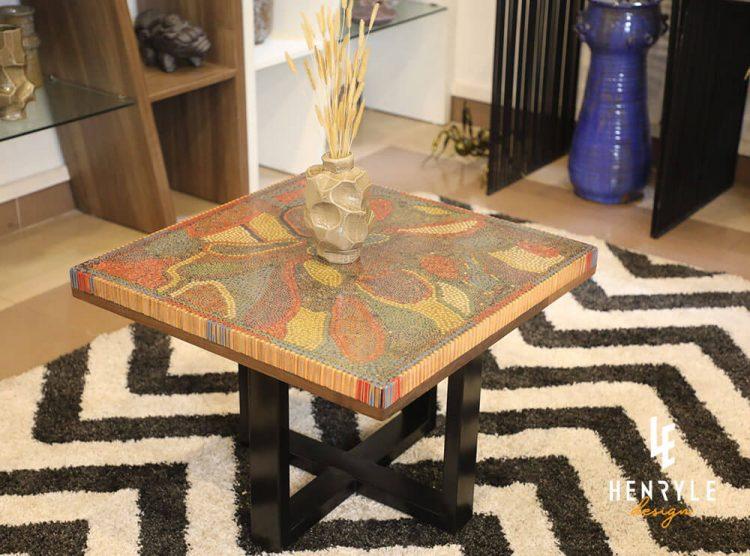 Lotus Pond Colored-Pencil Coffee Table II 3