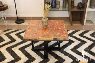 Lotus Pond Colored-Pencil Coffee Table III 1