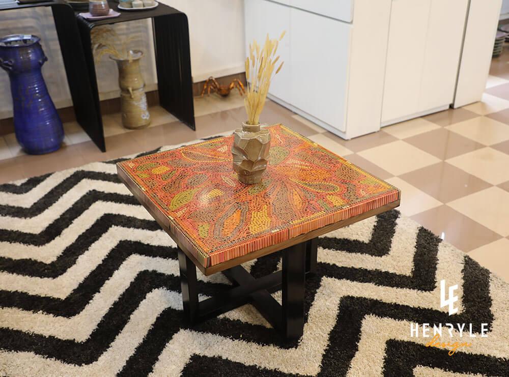 Lotus Pond Colored-Pencil Coffee Table III 4