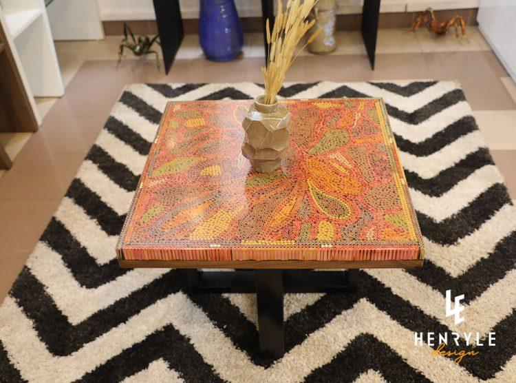 Lotus Pond Colored-Pencil Coffee Table III 5