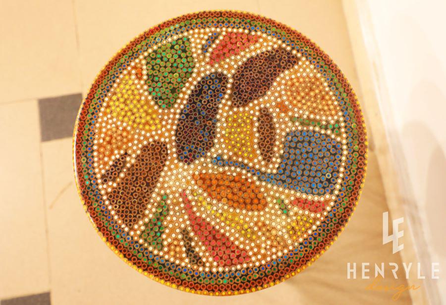 Lotus Pond Colored-Pencil Coffee Table IV 1
