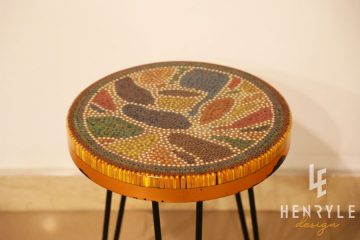 Lotus Pond Colored-Pencil Coffee Table IV 2