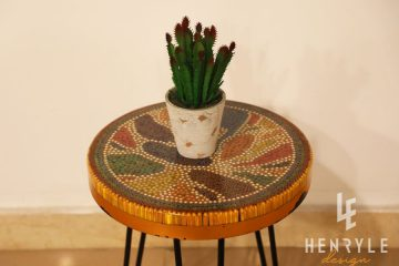 Lotus Pond Colored-Pencil Coffee Table IV