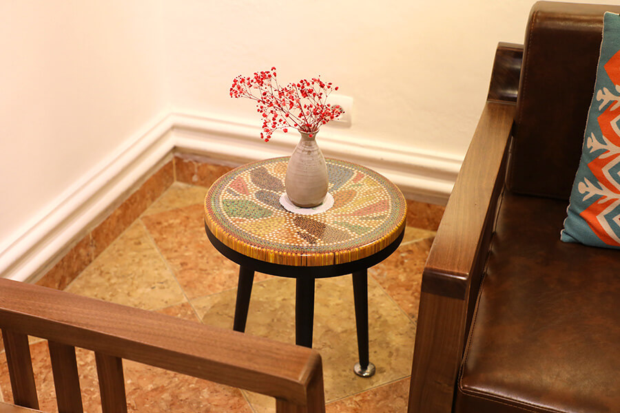 Lotus Pond Colored-Pencil Coffee Table IV3