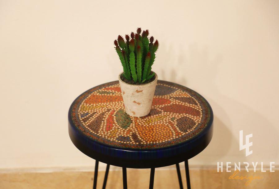 Lotus Pond Colored-Pencil Coffee Table V