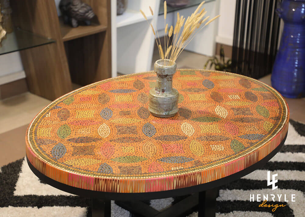 Lucky Coins Colored Pencil Coffee Table II 2