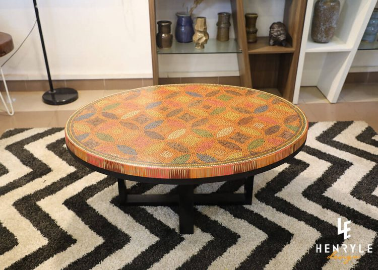 Lucky Coins Colored Pencil Coffee Table II 3