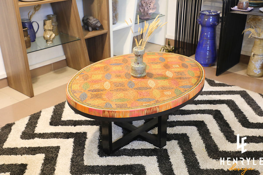 Lucky Coins Colored Pencil Coffee Table II 4