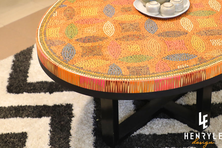 Lucky Coins Colored Pencil Coffee Table II 5