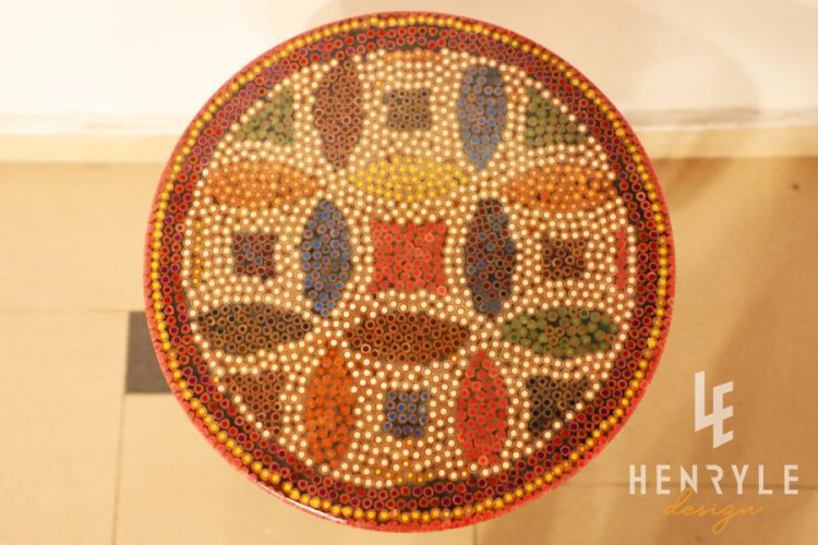 Lucky Coins Colored Pencil Coffee Table V 1