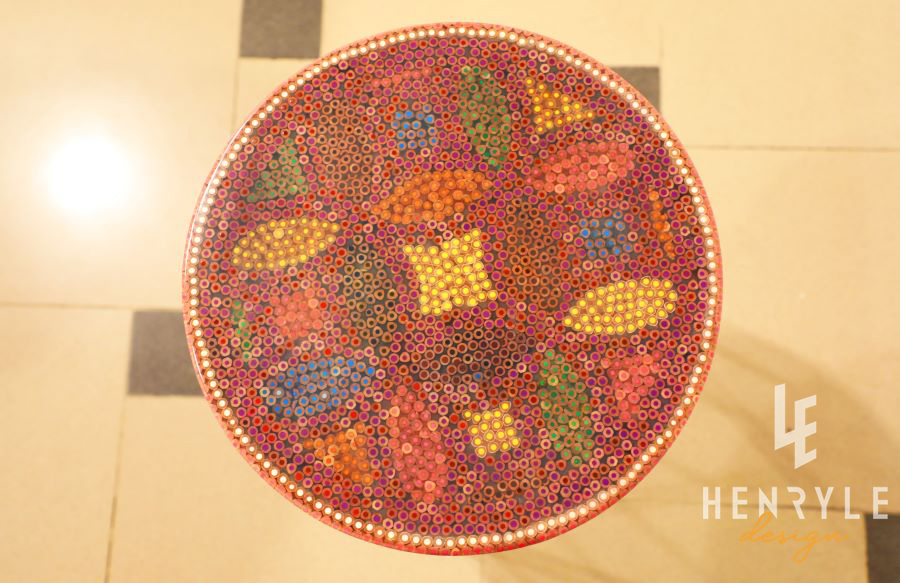 Lucky Coins Colored Pencil Coffee Table VI 1
