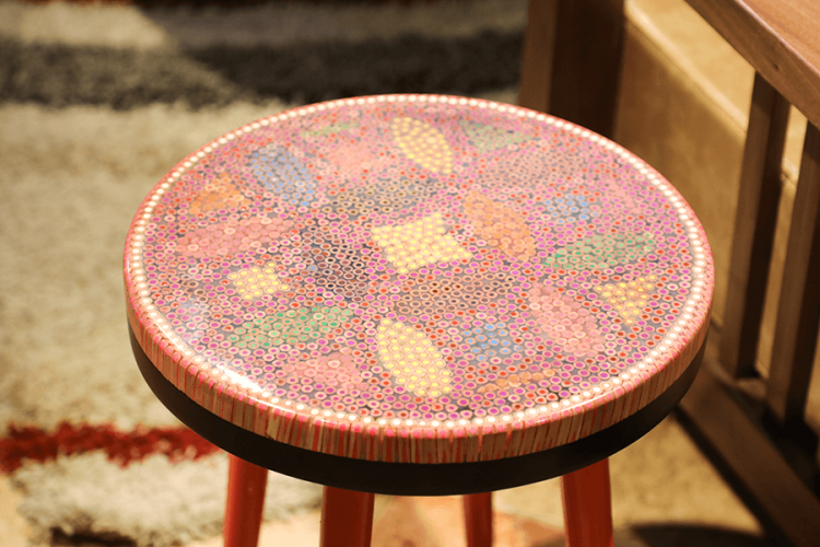 Lucky Coins Colored Pencil Coffee Table VI