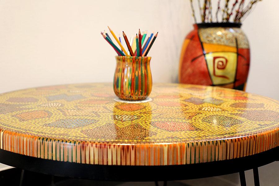 Prosperity Colored Pencil Coffee Table 3