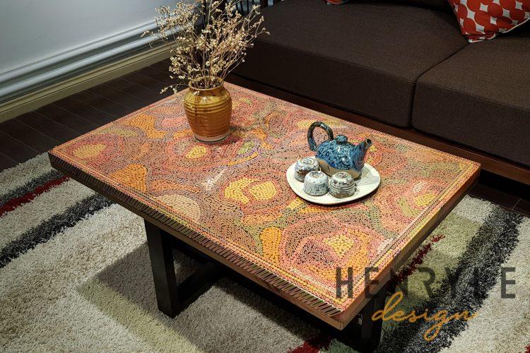 Rose Garden Colored-Pencil Coffee Table