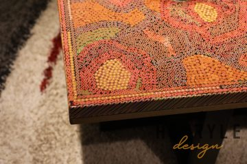 Rose Garden Colored-Pencil Coffee Table