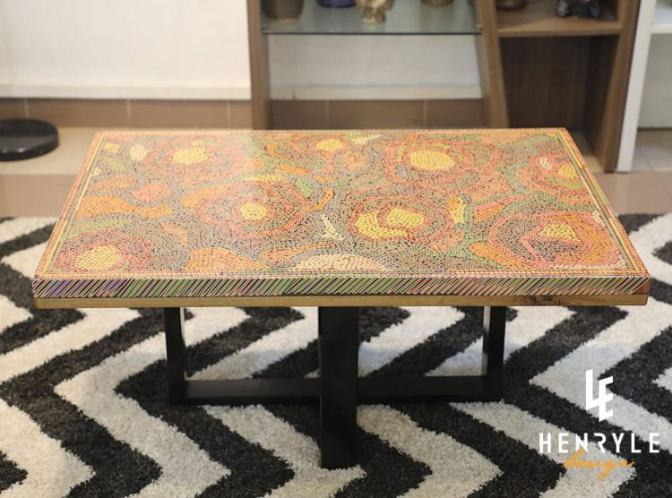 Rose Garden Colored-Pencil Coffee Table II 4