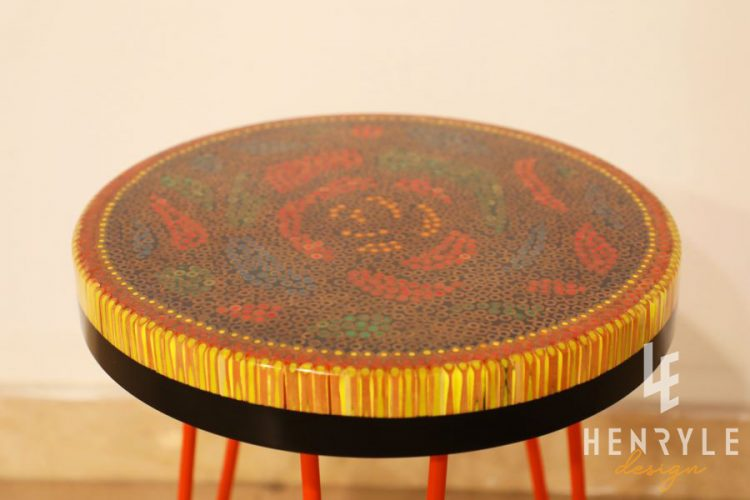 Rose Garden Colored Pencil Coffee Table IV 1