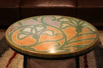 Single Curves Colored-pencil Coffee Table