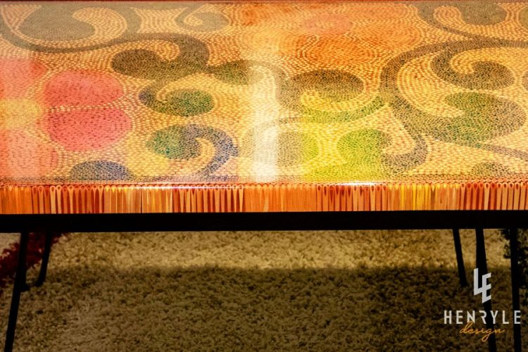 Spring Day Colored-Pencil Coffee Table 1