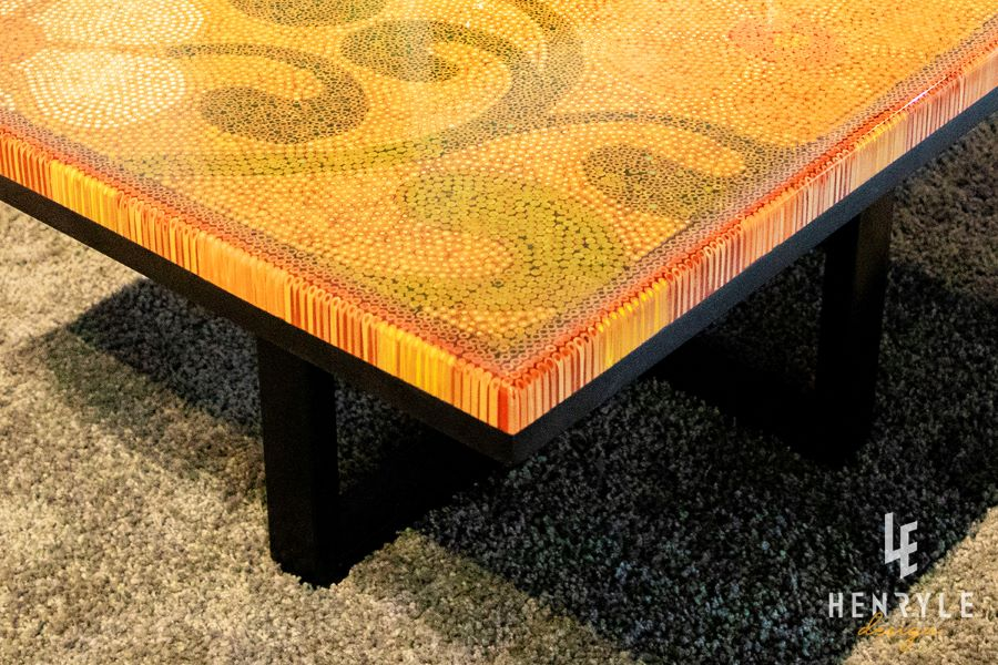 Spring Day Colored-Pencil Coffee Table 2