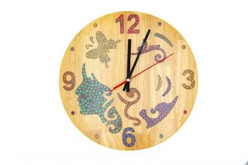 The Fairy Colored-Pencil Wood Wall Clock