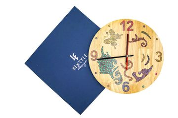 The Fairy Colored-Pencil Wood Wall Clock 2
