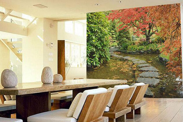 Wall Paint in Wood Element Colors in the House