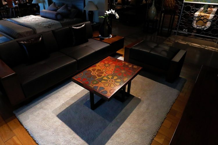 Wild Cosmos Flower Colored-Pencil Coffee Table 1