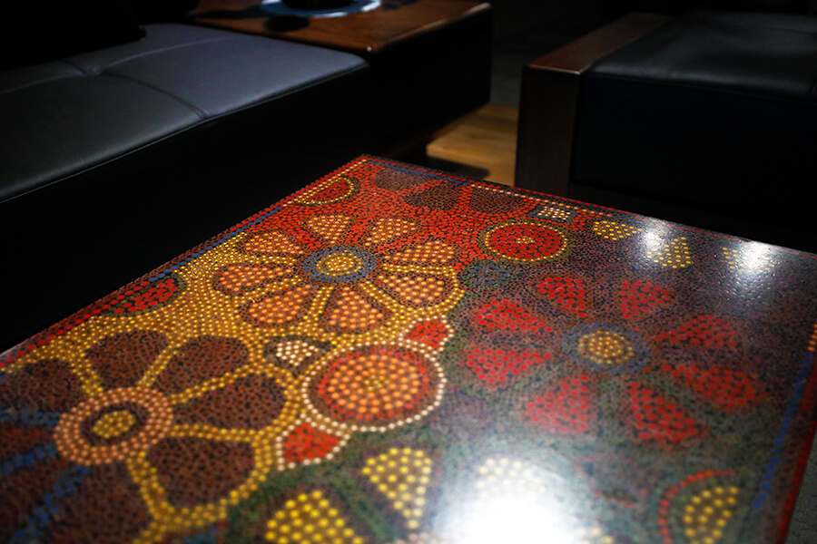 Wild Cosmos Flower Colored-Pencil Coffee Table 4