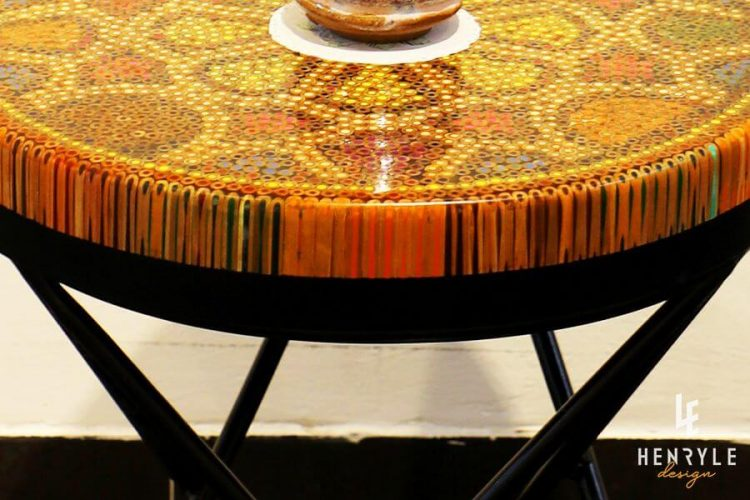 Wild Cosmos Flower Colored-Pencil Coffee Table II 2