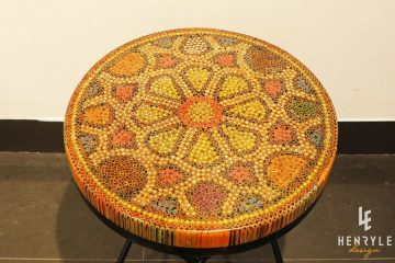 Wild Cosmos Flower Colored-Pencil Coffee Table II