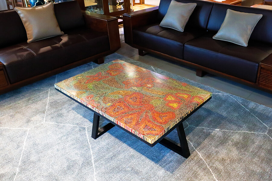 Wildflowers Colored-Pencil Coffee Table 1